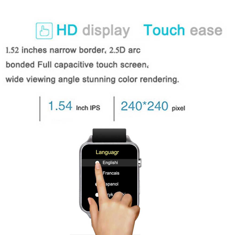 Reloj inteligente Kaimorui rastreador de frecuencia cardíaca Bluetooth reloj inteligente compatible con tarjeta SIM TF reloj inteligente para hombres para Android IOS