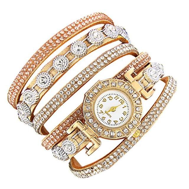 CCQ Brand Fashion Luxury Rhinestone Bracelet Watch Ladies Quartz Watch Casual Wo