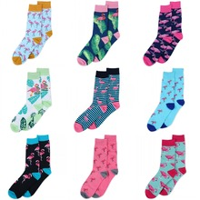wholesale cute socks women men harajuku design Mouse Flamingo bird pattern animal cartoon style art chaussette meias