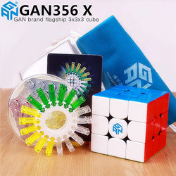 GAN356 X magnético magic speed cubo profesional gans 356X imanes rompecabezas cubo mágico gan 356 X