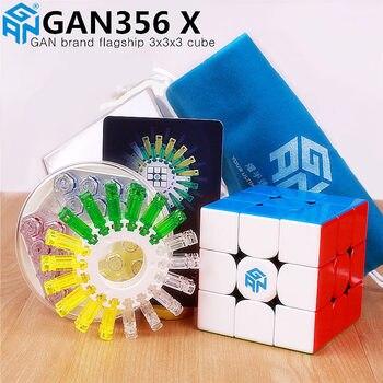 GAN356 X magnetyczny magia prędkość kostki profesjonalne gans 356X magnesy puzzle cubo magico gan 356 X