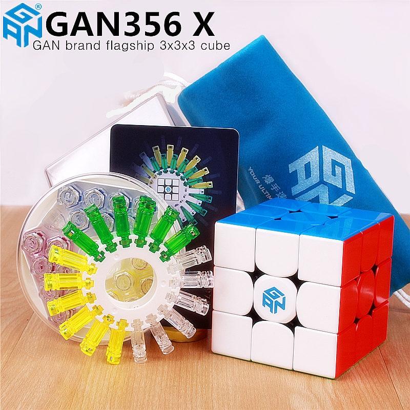 Gan356 x magnético magia velocidade cubo gan356x profissional gans 356x ímãs quebra-cabeça cubo magico gan 356 x