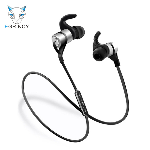 08e3007f117 EGRINCY D9 Metal Magnetic Bluetooth Earphone Sweat-proof Sport Headset  Super Bass Stereo HIFI Handsfree Wireless Earbud With MIC