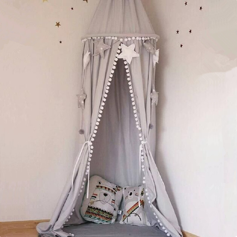 3 Colors Hanging Dome Play Tent Bed Curtain Tent Mosquito Net Baby Teepees Play House Ki ...