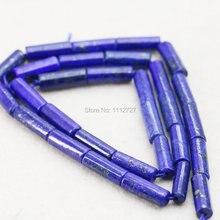 8X12mm Vente Chaude Lapis lazuli Tube Perles Accessoires Artisanat Perles Lâches Jasper Jade Pierre Pour Femmes Filles bijoux Faisant 15 pouces