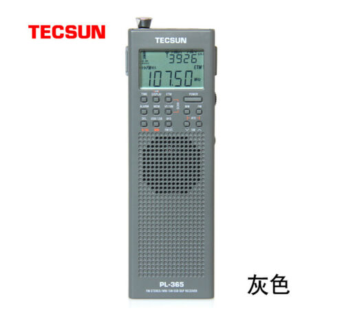 Original TECSUN PL-365 Mini Portable DSP ETM ATS FM-Stereo MW SW World Band Stereo Radio PL365 Gray Color