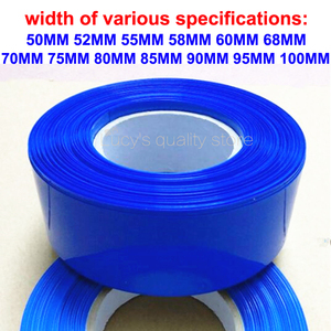 1 kg 18650 baterii pcv termokurczliwe Film niebieski rury skóry, których części N-sekcja bateria litowa izolacji