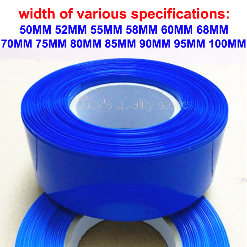 1kg 18650 Battery Pvc Heat Shrink Film Blue Tubing Skin N section Lithium Insulation in Replacement Parts Accessories from Consumer Electronics