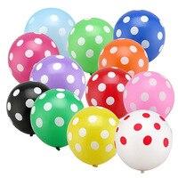 100 sztuk 3.2g 12 inch Cukierki Dot Lateksowe Balony Dekoracje dla Dzieci Prysznice Dla Dzieci Urodziny Ślub Boże Narodzenie Wystrój hel Ball
