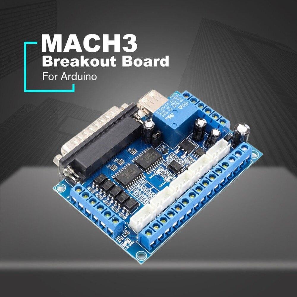 5 axis CNC Breakout Board Драйвер шагового двигателя MACH3 контроллер модуля управления параллельным портом с оптическим usb-кабелем 2019