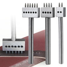 1pc 2/4/6 Prong Leather Hole Punches 1mm Round Row Punch Craft Cutter 4mm Stitched Spacing Hand Tool