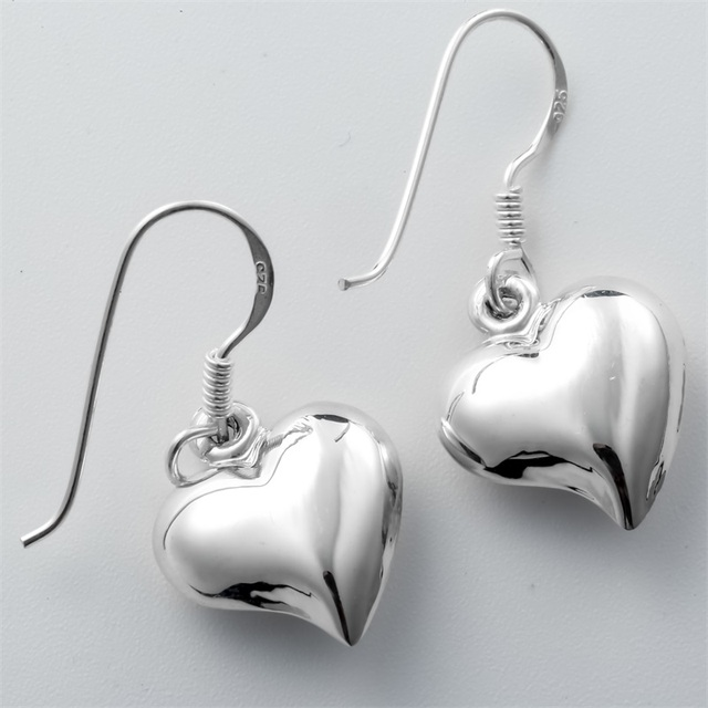 925 Sterling Silver Heart Dangle Drop Earrings Biker Jewelry Birthday Gifts For Women Wife Her Girlfriend Girls Dropshipping