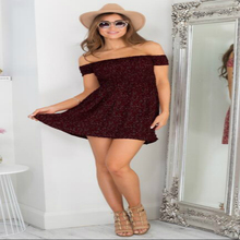 LOSSKY New 2018 Fashion Women Dress Short Sleeve Floral Dress Sexy Off Shoulder Beach Mini Summer Dress  Casual Party Vestidos