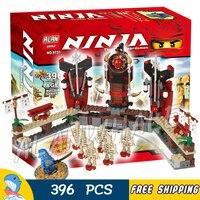 396pcs Bela 9731 Ninja Skeleton Bowling Building Blocks Model Toys Jay Dragon Bricks Compatible With Lego
