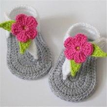 Hecho a mano del Ganchillo del bebé, recién nacido del bebé zapatos casuales