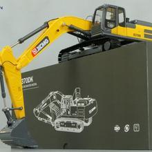 """Новинка 1/30 литые под давлением металлические строительные модели для XCMG XE370 модель экскаватора, кукла """"водитель"""", коллекция, подарок, копия"""