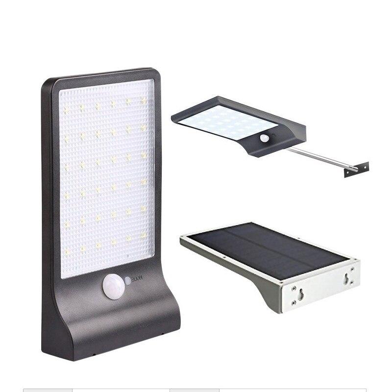 2018 Solaire Lumière 450LM 36 LED PIR Motion Sensor Mur Lampes Étanche En Plein Air Rue Lumières Jardin Sécurité Lampe Chemin Décoration
