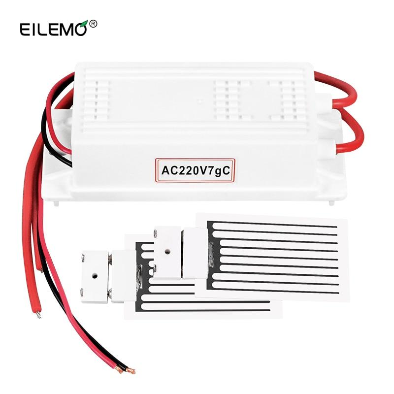 EILEMO Air Purifier Home and Car Ozone Generator 220V/12V/110V 7g Ozonizador Cleaner Ozonizer Ceramic Plate Sterilization цена 2017