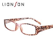 Liansan Винтаж Очки для чтения Для женщин Для мужчин ретро Роскошные Брендовая Дизайнерская обувь дальнозоркость пресбиопии Пластик очки модные розовые L3200X