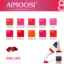 Aimoosi Lip & Eyebrow Pigment Permanente make-up Tattoo Pigment Microblading cosmetische tattoo-inkt 35 kleuren aanbod