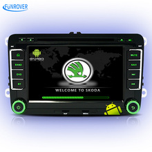 FUNROVER Autoradio Car Radio player for Skoda octavia fabia rapid superb yeti car gps navigation multimedia iso plug