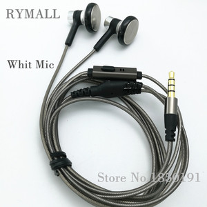 Image 4 - RY04 original in ear Earphone metal manufacturer 15mm music quality sound HIFI Earphone (ie800 style), 3.5mm, New weaving cable