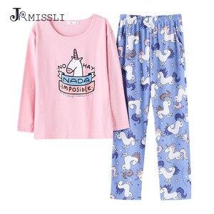 Image 1 - JRMISSLI Cute Womens Pajama Sets Print 2 Pieces Set Crop Top + Shorts women pajamas cotton Plus Size pajamas suit For Women