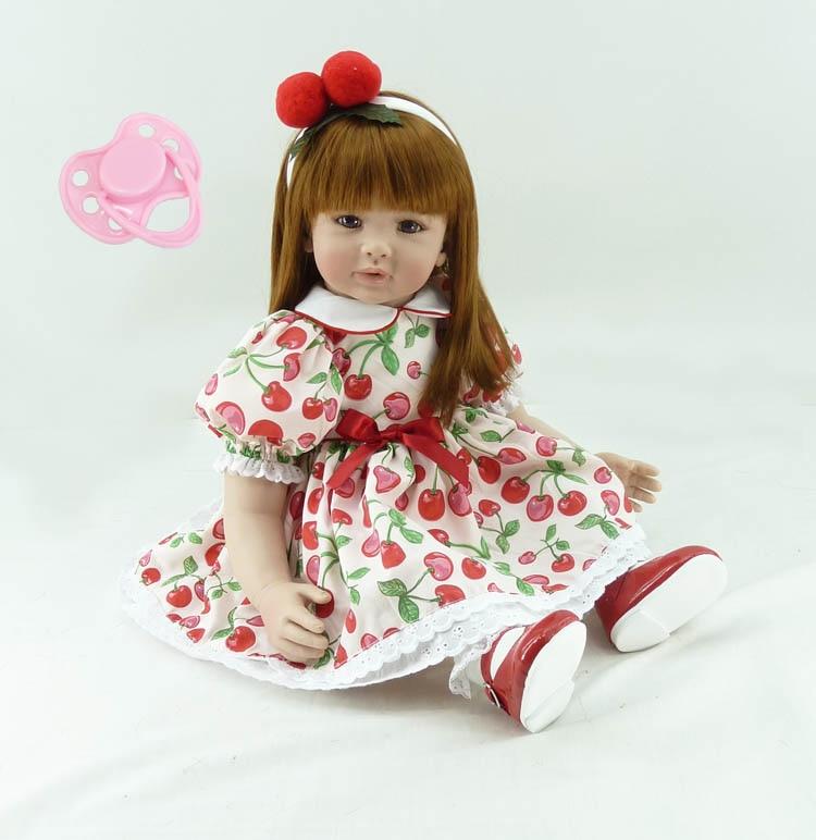 60 cm 실리콘 비닐 reborn 아기 인형 장난감 판매 24 inch 공주 유아 소녀 아기 아이 생일 선물 현재 놀이 집 장난감-에서인형부터 완구 & 취미 의  그룹 1