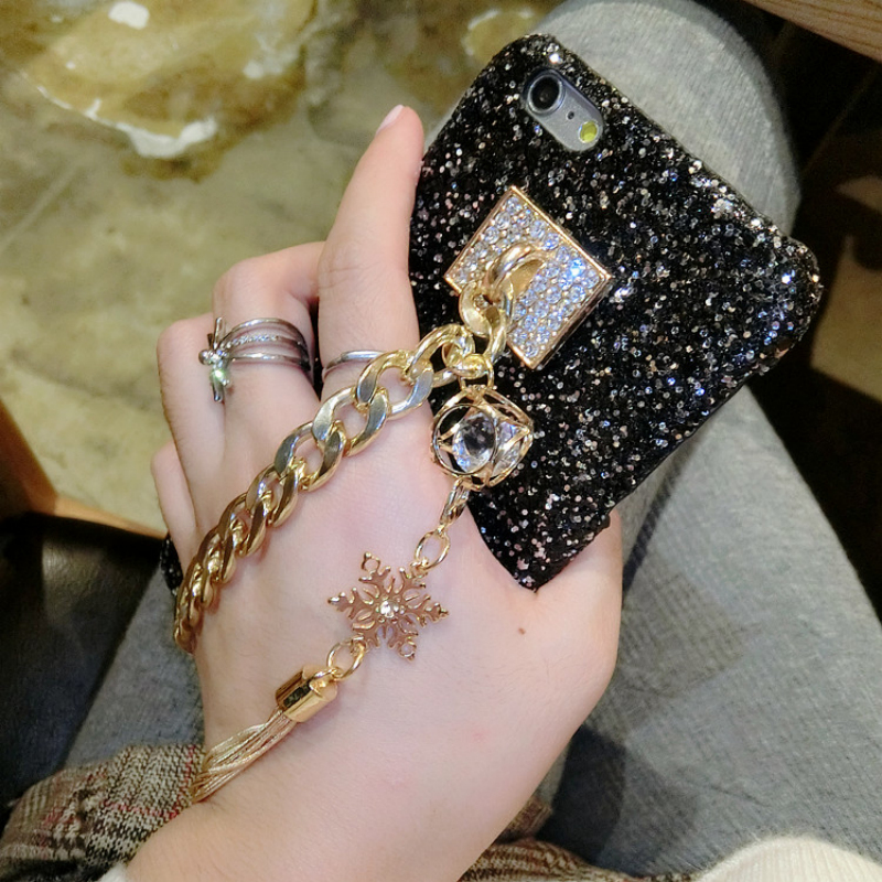 304ef41d9bc TANZ Phone Cases for iPhone 6 6S X 6plus 6Splus 7 8 7plus 3D Bling Luxury  Rhinestone Chain Girls Cover Back Tassel case-in Rhinestone Cases from  Cellphones ...