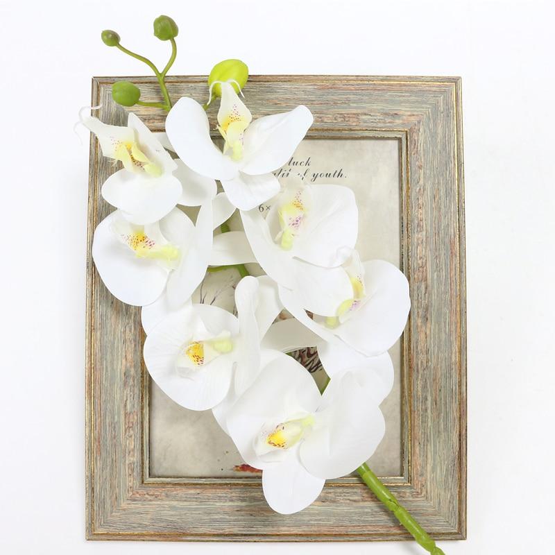 Lule Orkide Artificiale Prekja e Vërtetë Butterfly Artificial - Furnizimet e partisë - Foto 3