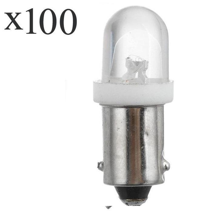 100 Pcs Ba9s 1led 6000 K 0,5 W 100-lumen Weißes Licht Auto Bremsen Lampen (dc 12 V/pair) Noch Nicht VulgäR