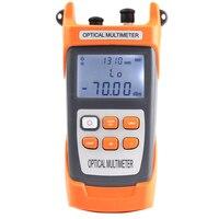 Handheld Alta Qualidade-70 ~ + Medidor De Energia De Fibra Óptica 10dBm 5/10 MW VFL Fibra Visual de falhas locator Power Meter Multímetro