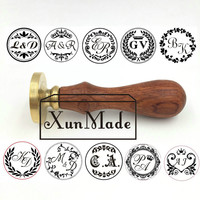 Double Letter Design Custom Seal Wax Sealing Stamp For Wedding Invitation Retro Antique Stamp Weeding Wax