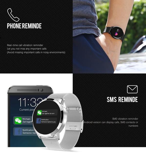 Rundoing Q8 Smart Watch OLED Color Screen Smartwatch women Fashion Fitness Tracker Heart Rate monitor 2