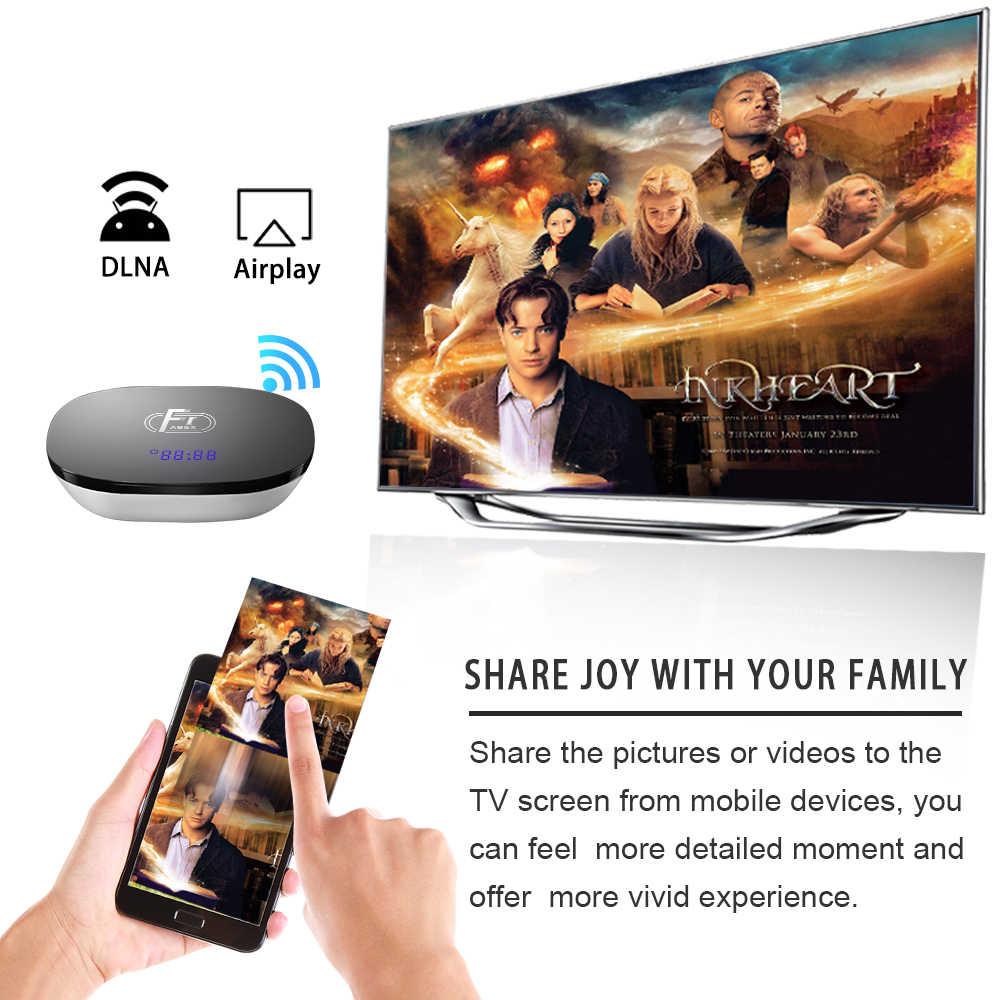 A95X F1 Smart TV BOX android 8 1 2GB DDR3 16GB eMMC Amlogic S905W Quad core  support WiFi 2 4G 4K media player set top box