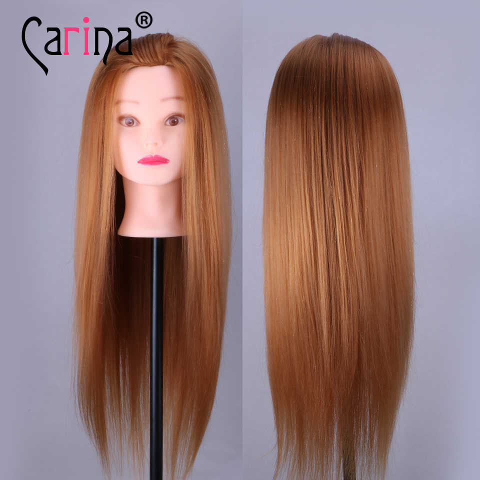 55CM 80% Real Hair Mannequin Head Professional Styling Head With Stand Hairdressing Doll Heads Training Head With Natural Hair