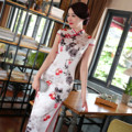 New Fashion Long Cheongsams Qipao Plus Size Sexy Silk Satin Maxi Dress Chinese Traditional Dress Short Sleeve Long Dresses