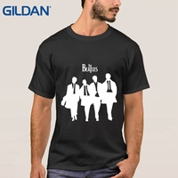 Designing T Shirt The Beatles Rock And Roll College The Guitar China Black Short Sleeve Men