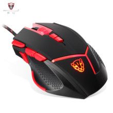 MOTOSPEED V18 Mouse Wired Gaming Mouse 4000 DPI 9 Buttons LED Light Fire/Sniper Button Button for Laptop PC Computer Gamer Mouse