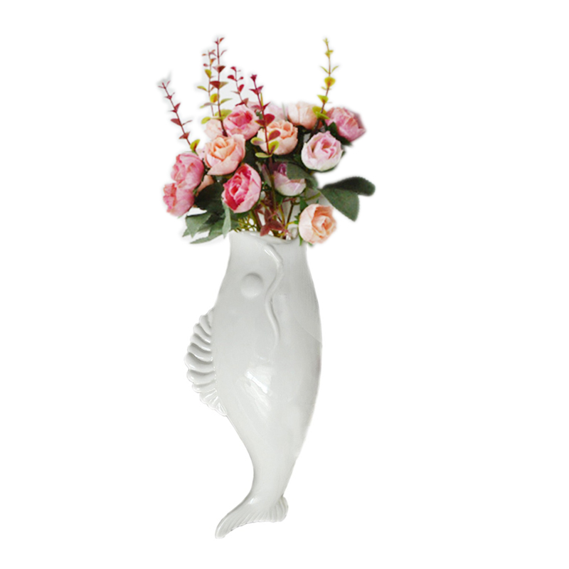 3D keramické rybí stěny dekorativní vázy v evropském stylu kreativní květinové vložky dekorace nástěnné samolepky keramické řemeslo domov Dekor