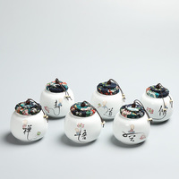2017 China Storage High-grade ceramic tea canister Gift storage jar Tea caddy Sugar Bowl Salt shaker storage tank White porcela