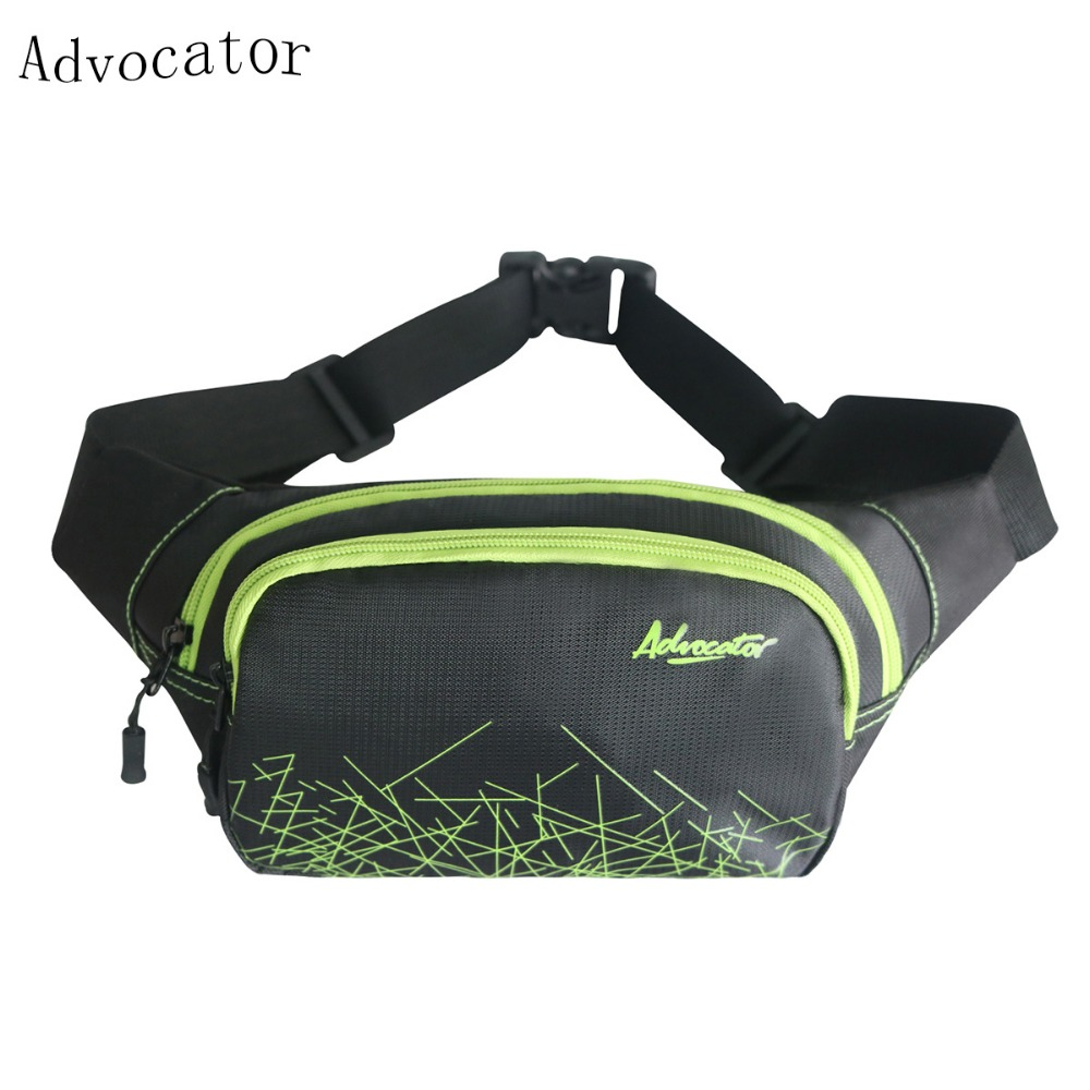 Advocator νάυλον αδιάβροχο τσάντα μέσης τσάντα άνδρες Ultralight κομψή τσάντα ώμου πολυλειτουργική τσάντα τηλέφωνο άνδρες φορητή Fanny τσάντα μέσης
