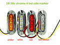 10x truck LED Side Marker lights Clearance tail Lamp 12V 24V external lights Car Truck Trailer Rear Lights caravan Parking light
