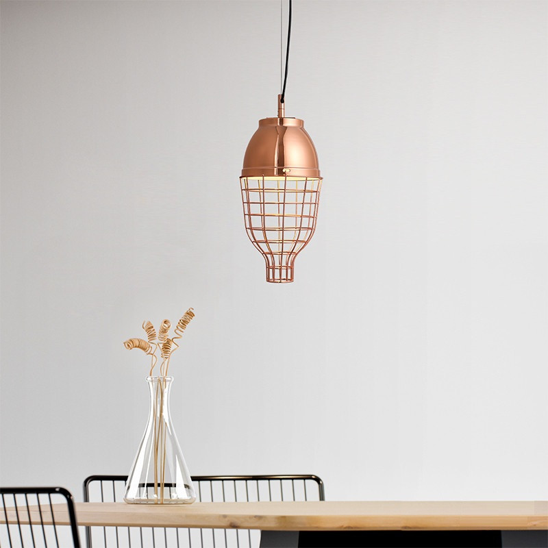 Nordice Design Led Pendant Lamp Copper Color Loft Lamp