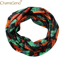 59339e80e113f4 Nieuw Ontwerp Weegbree Leaf Vrouwen O Hals Ring Rits Pocket Sjaal  Convertible Infinity Loop Sjaals Mode