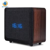 Beautiful Practical Good Quality Wireless Bluetooth Speaker Phone Card Alarm Clock Mini Wood Sound Home Retro Radio Subwoofer