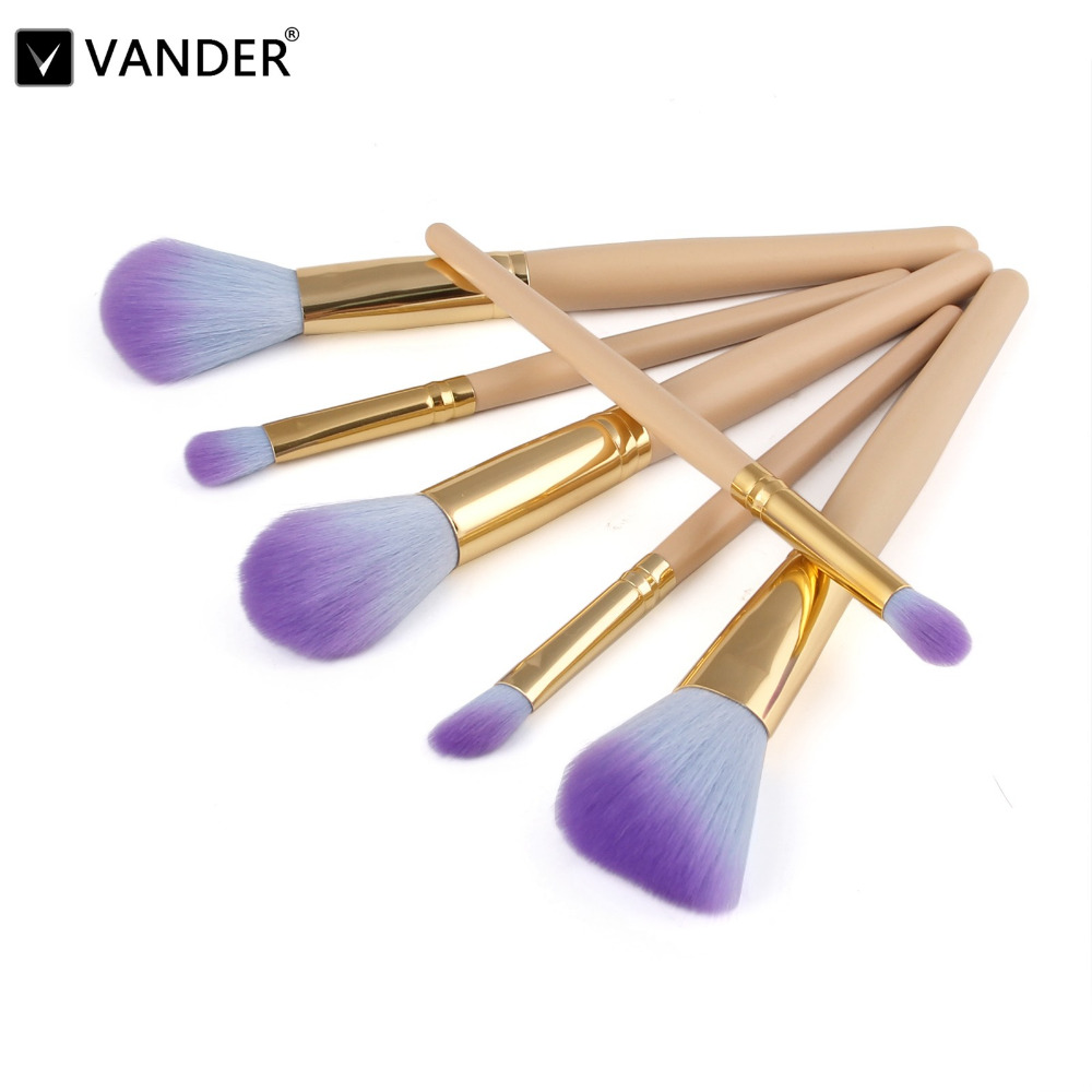Vander Pro 6Pcs Makeup Brushes Set Powder Blush Foundation Eyeshadow Eyeliner Lip Cosmetic Kit Beauty Blending Tools Maquiagem купить
