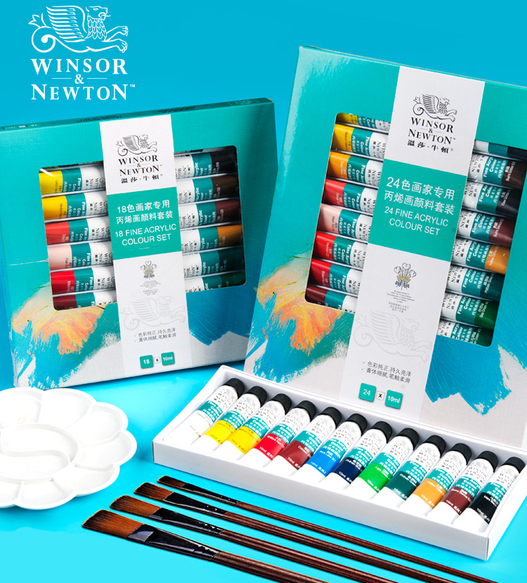 Bgln Professional Acrylic Paints Set 12/18/24 Colors 10ML Hand Painted Wall Drawing Painting Pigment Set Art Supplies