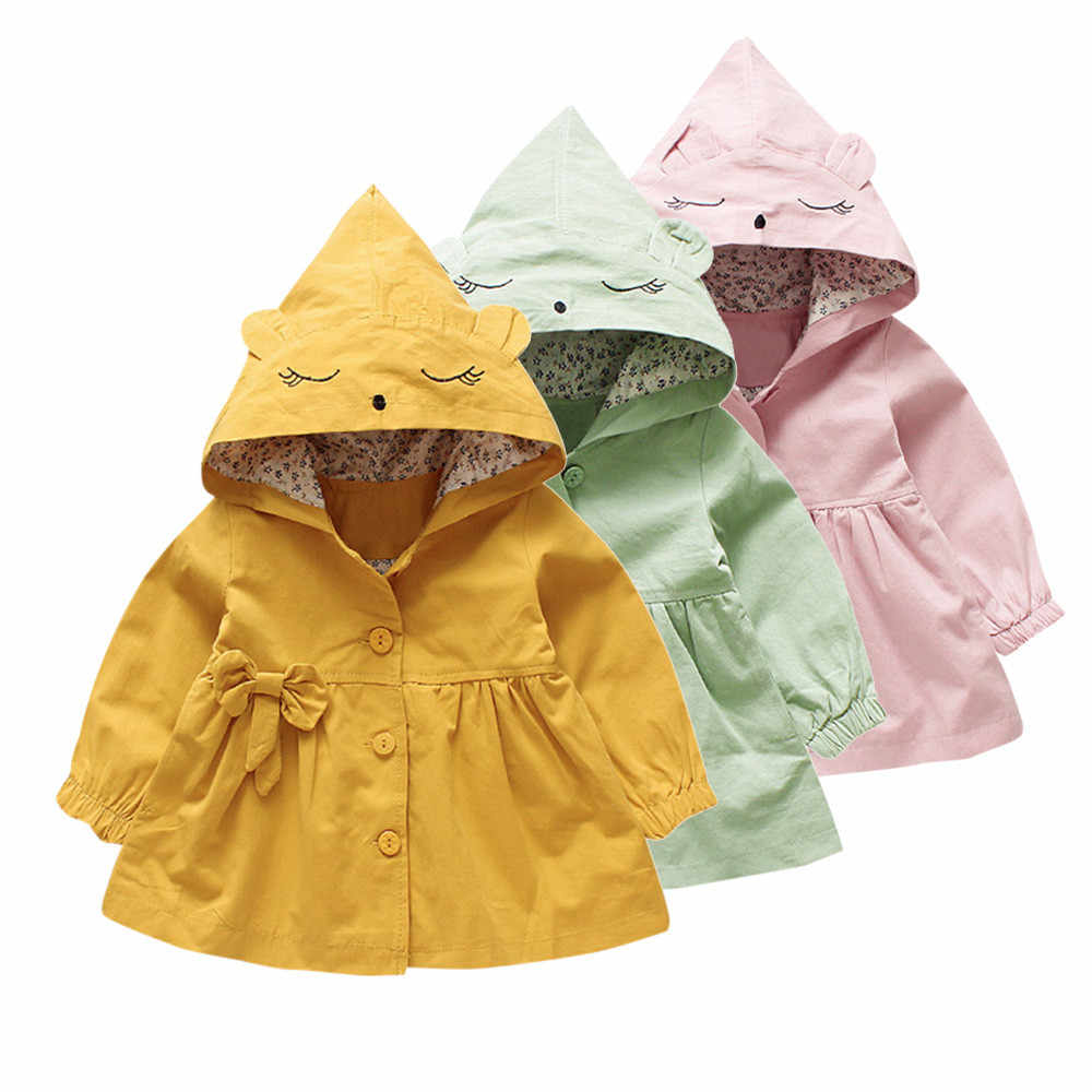 Toddler Children Baby Girls Cartoon Jacket Outerwear Ears Hoodie Clothes Coat kids jacket manteau bebe fille
