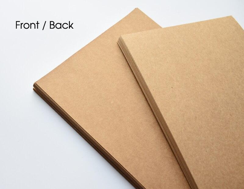 А4 белая коричневая бумага Kraft картона картон пустая карточка упаковывая бумажный мешок несущей 150gsm 250гсм 350гр
